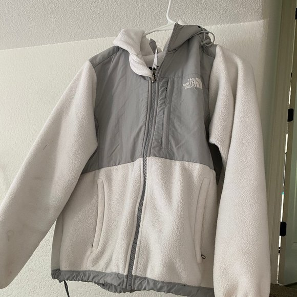 White north face winter jacket